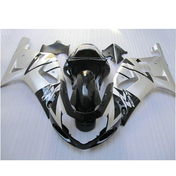 349.00$  Watch now - Custom free ABS plastic Injection fairing set for SUZUKI K1 2001 2002 2003 GSXR 600 GSXR 750  01 02 03 black silver fairings kit  #bestbuy