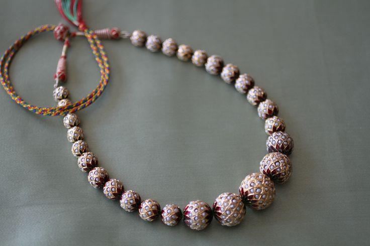 Pearl and Minakari Necklace