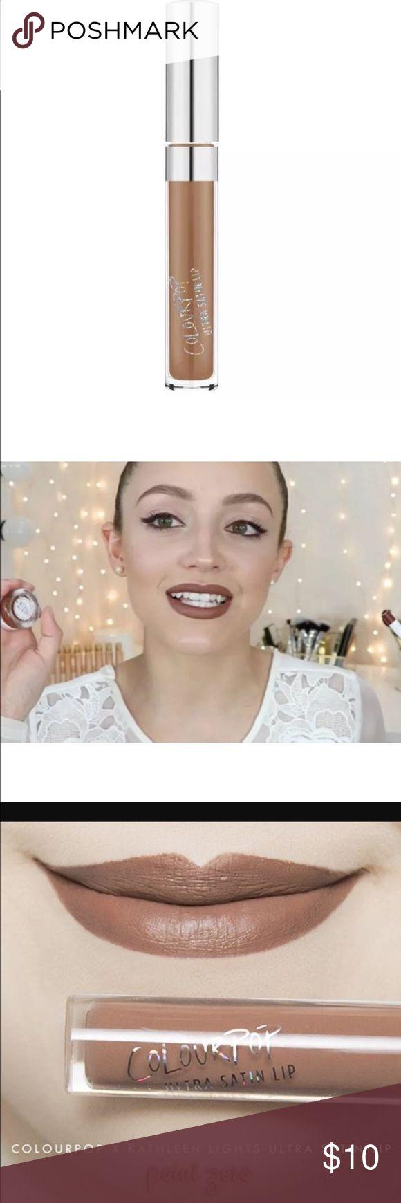 "New ColourPop Kathleen Lights Point Zero Lipstick New in box ColourPop X Kathleen Lights collab Ultra satin lip in ""point zero"". Cool toned grey brown liquid lipstick. Colourpop Makeup Lipstick"