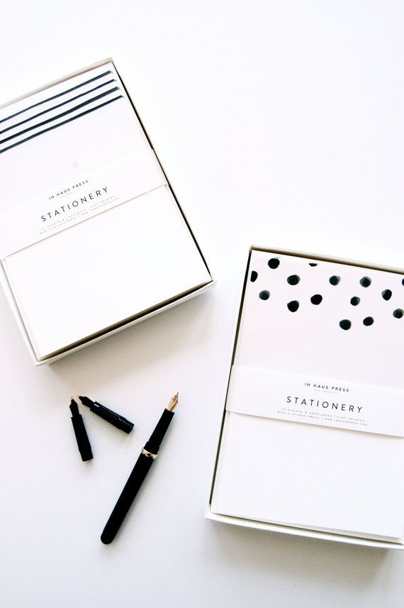 Dots & Stripes Stationery Sets Whether you're sending a quick note, or a long overdue letter, our stylish stationery sets are perfect for staying touch with someone special .