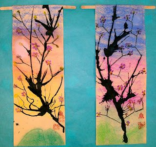 pastel background, straw blown ink over top: 2nd Grade