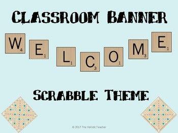 Scrabble Classroom Banner