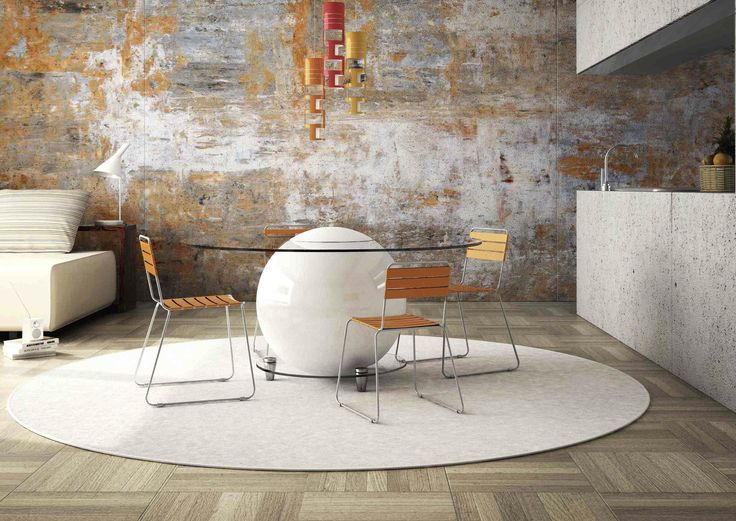 Resin wallcovering / smooth / concrete look / waterproof - VISIONI by OltreDesign - OltreDesign