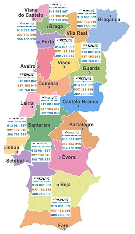 Urbanos CAT Areas Cobertura Assistencia Tecnica em Portugal
