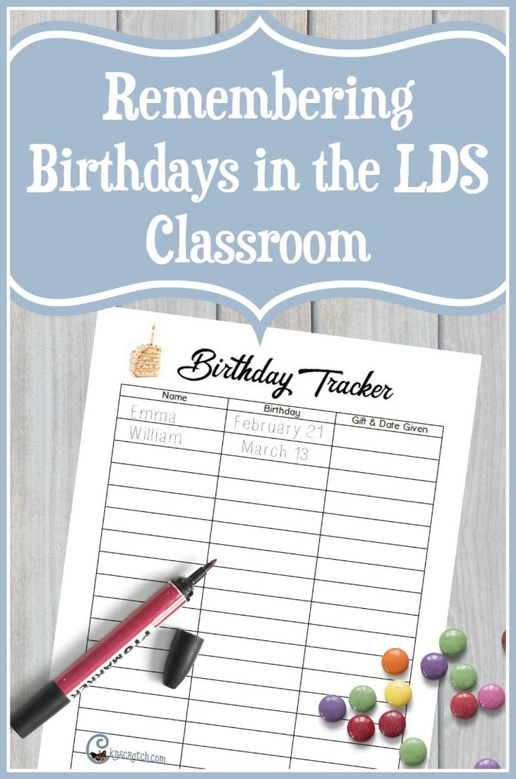 Remembering Birthdays in the LDS Classroom