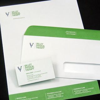 Valley Physical Therapy Business Stationery Design