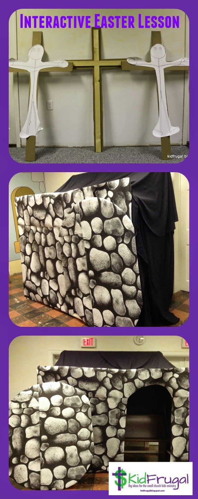 Kidfrugal: The Empty Tomb - An Interactive Easter Lesson. DIY cave or tomb and interactive Easter drama for small groups.
