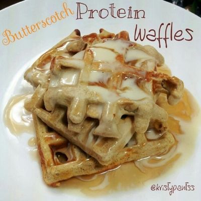 Ripped Recipes - Butterscotch Protein Waffles - A healthy and delicious way to start your day!