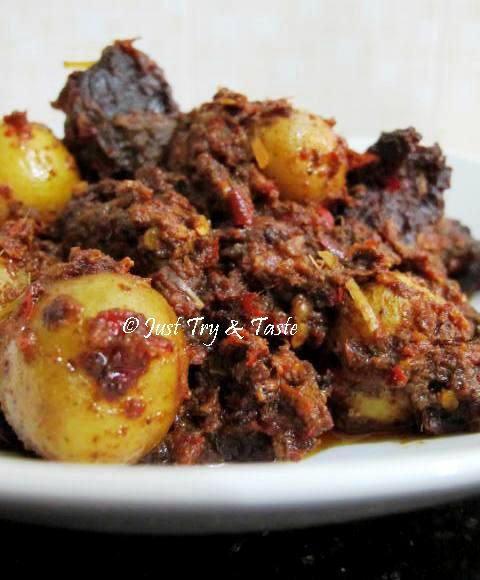 Just Try & Taste: Rendang Daging Sapi & Kentang a la My Mom