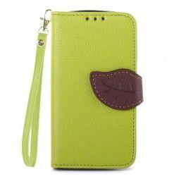 Galaxy Trend ja Trend plus vihreä lompakkokotelo. #galaxytrend #vihreä #puhelinlompakko #lehti