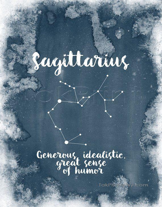 Sagittarius Zodiac Art Print Sagittarius Star Sign Wall Art Etsy Constellation Art Virgo Constellation Art Constellations Art Print