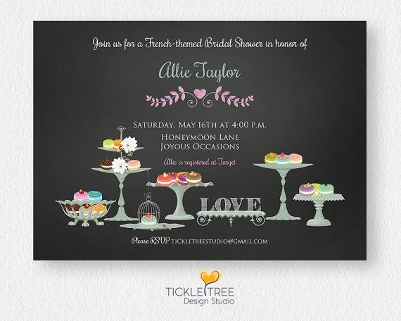 Wedding or Bridal Shower Personalized by tickletreestudio on Etsy