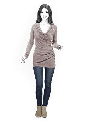 4319 PDF Sewing Pattern for Pullover, Personalized for Custom Size, Women Clothing