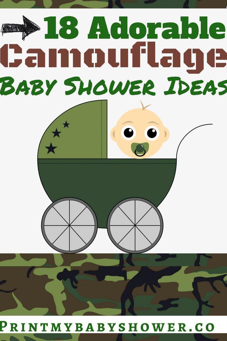 Baby shower camo ideas