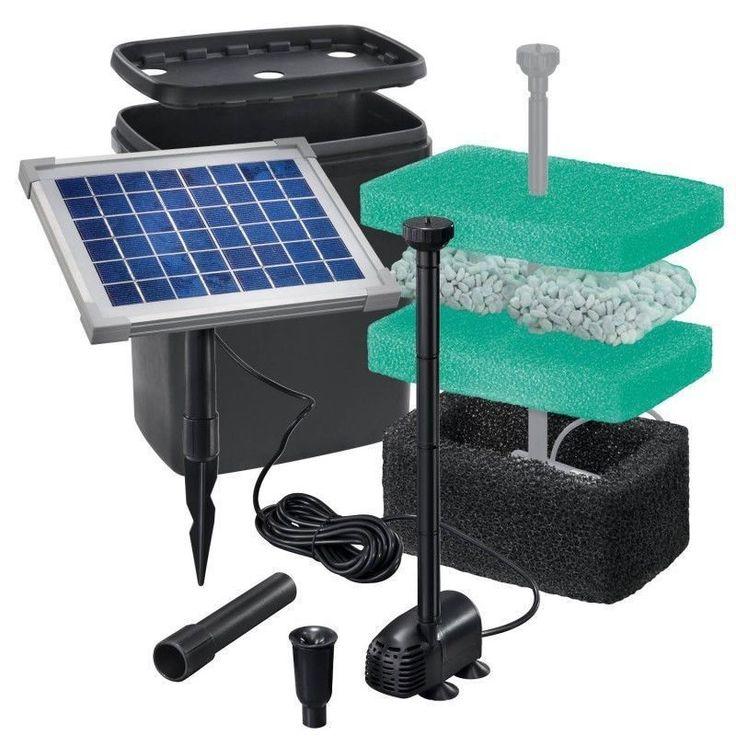 Solar Teichfilter Set Starter 470 Nr. 9 101065 7 Fische sauberes Wasser KOI