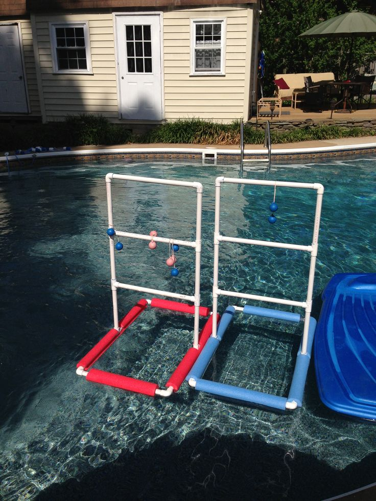 Diy Pool Ladder Ball Pvc Pipes Pool Noodles Diy Finds