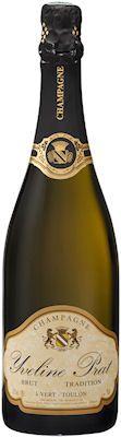 Bouteille de champagne brut tradition
