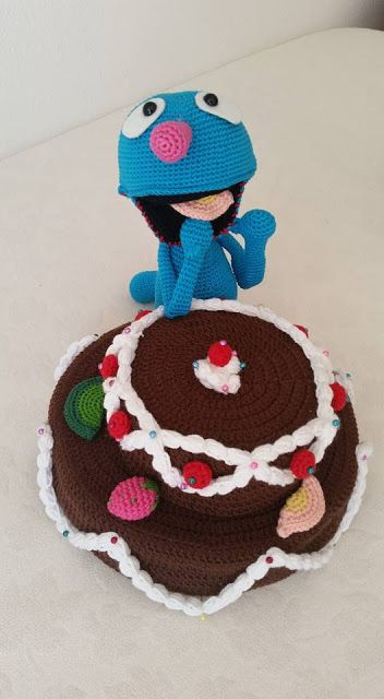 amigurumi, amigurumi doll, grover, handmade doll, crochet doll, amigurumi bebek, elişi bebek, örgü bebek, elişi, handmade, örgü pasta, crochet cake, crochet pie, crochet fruits, örgü meyve,