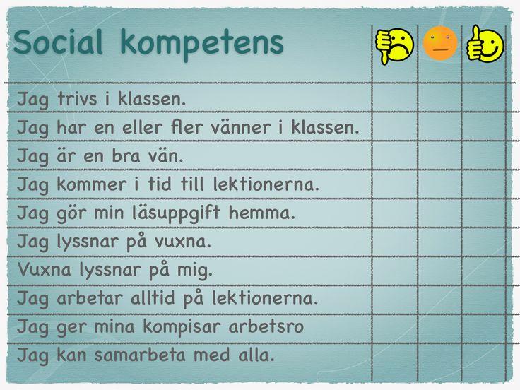 Social kompetens checklista