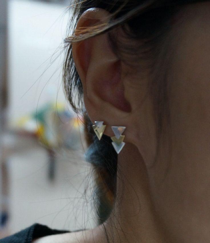 핀트가나갓네ㅜㅠㅠㅠ Silver earring  Silver&brass
