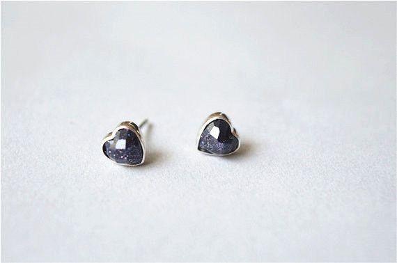 Achat Herz Ohrstecker 925 Sterling silber Echte #schmuch #Ohrstecker #Achat #Stern #ohrringe #silber #fashion #jewelry #stud #earrings #star #silver #Herz #heart