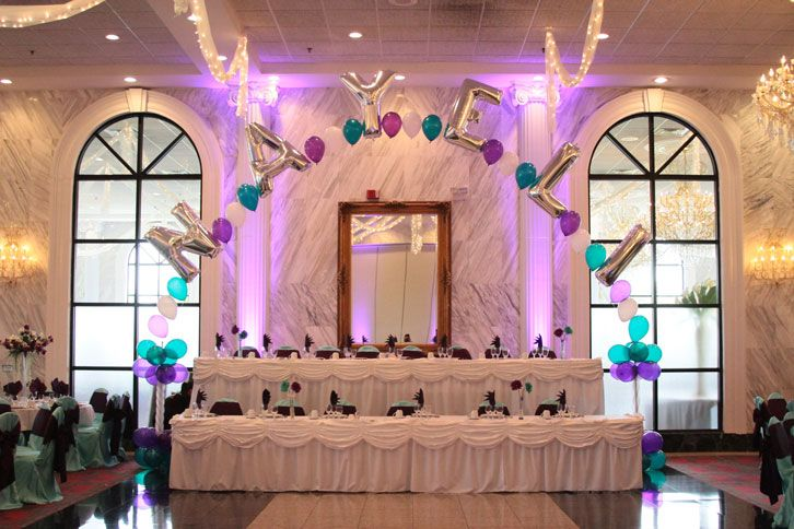 Hall decorations quinceanera and decoration on pinterest for Decoration hall