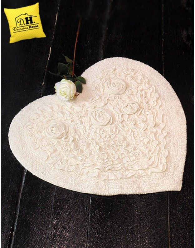 Tappeto a forma di cuore shabby Chic Roseto Collection