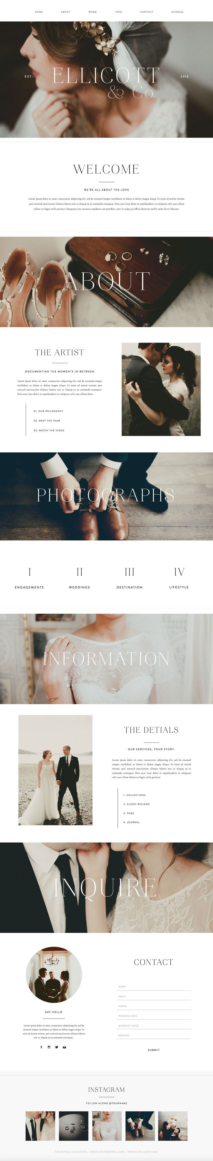 Ellicott - Showit Premium Photography Website Template Design