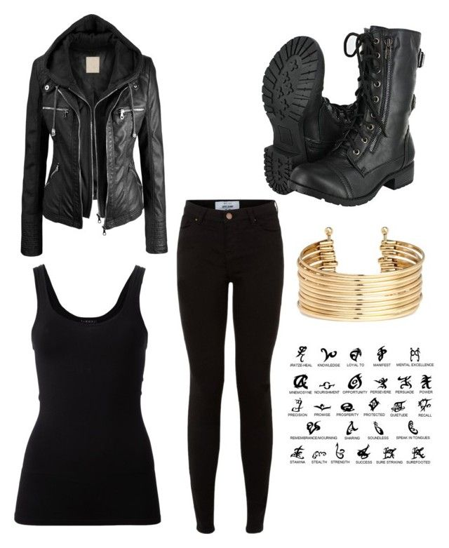 """shadowhunter outfit"" by lsmit173 ❤ liked on Polyvore featuring New Look, Theory and H&M"