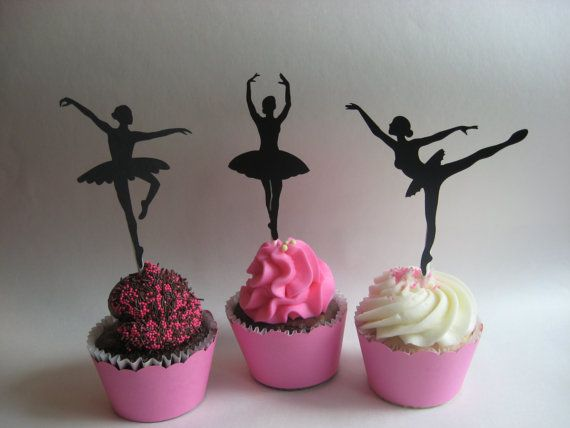 Ballerina Cupcake Wrappers & Toppers by artnheartinspiration, $12.00