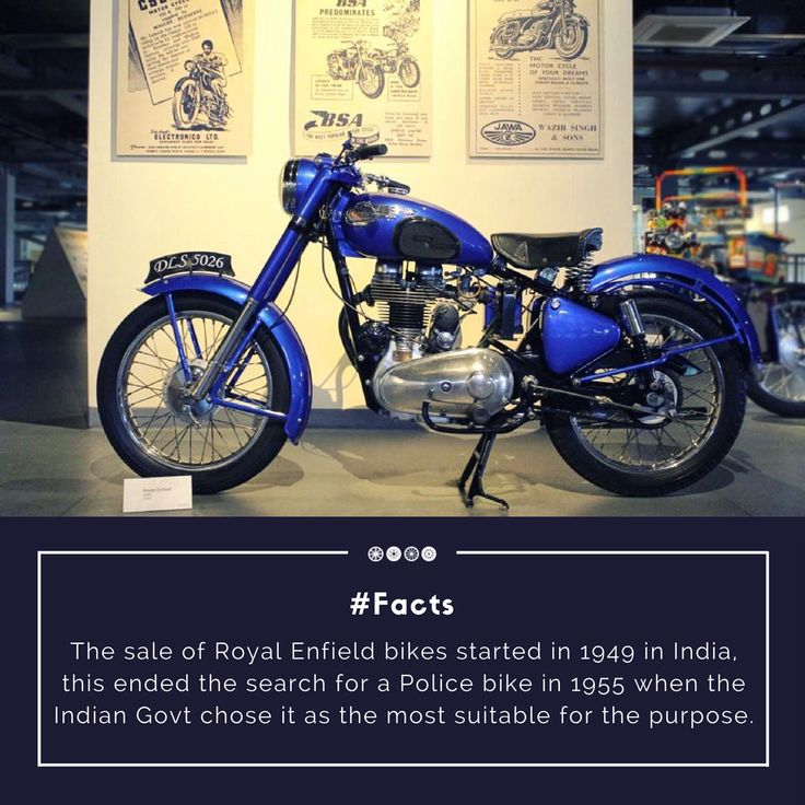 A 1954 Royal Enfield Bike, comprising of 350/500 CC four-stroke engine, an exposed valve gear, solid & rigid frames, four-speed Albion gearbox and an extra lever!  #vintagebike #royalenfield #vintagecollection #facts #doyouknow #transportmuseum #vintagetransport #incredibleindia