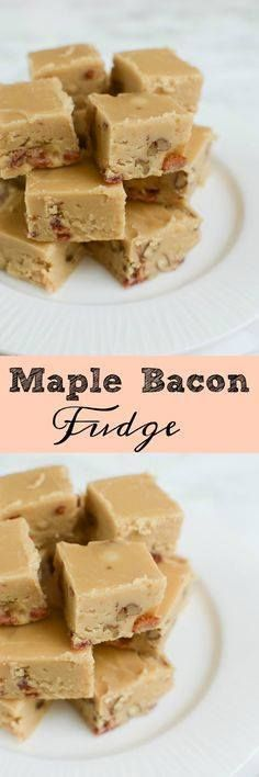 Maple Bacon Fudge - Maple Bacon Fudge - you have to make this at...  Maple Bacon Fudge - Maple Bacon Fudge - you have to make this at Christmas! The sweet and salty combo is perfect! Recipe at http://ift.tt/1hGiZgA