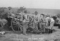 Boer Wars  Boer artillery at Ladysmith, South Africa, circa 1899