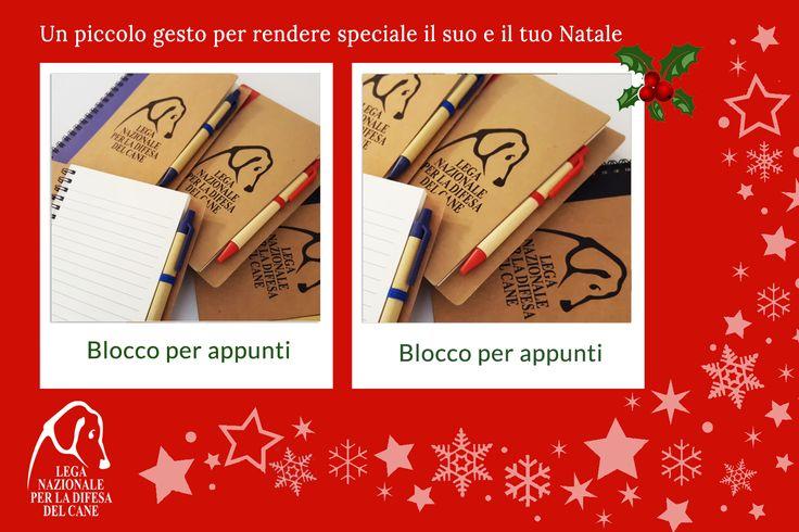 Un piccolo gesto per rendere speciale il suo e il tuo #Natale ♥ #blocknotes #shoppingsolidale #lamorelasciailsegno #oltrelaspecie 👉 http://bit.ly/2fM3gM5
