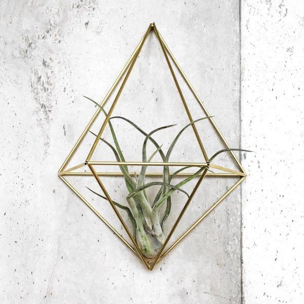Draadzaken DIY Kit Wall Planter DIAMOND - Brass