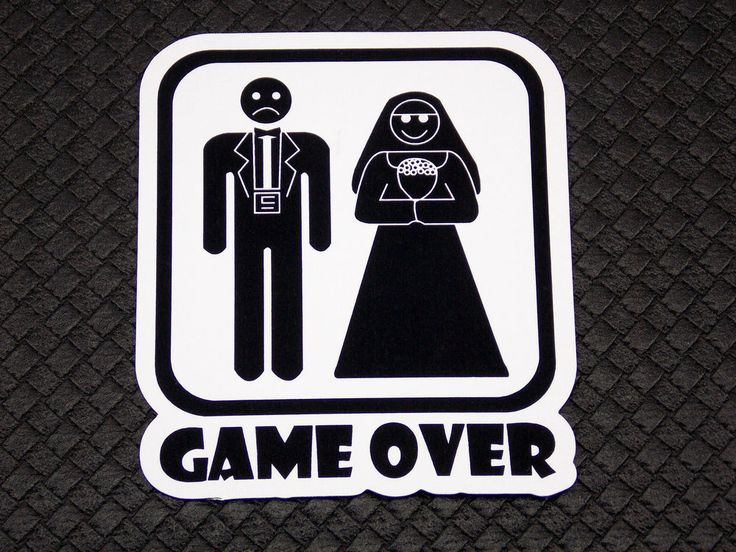 Game Over Wedding Funny Flexible Fridge Refrigerator Magnet Unique Gift Osarix