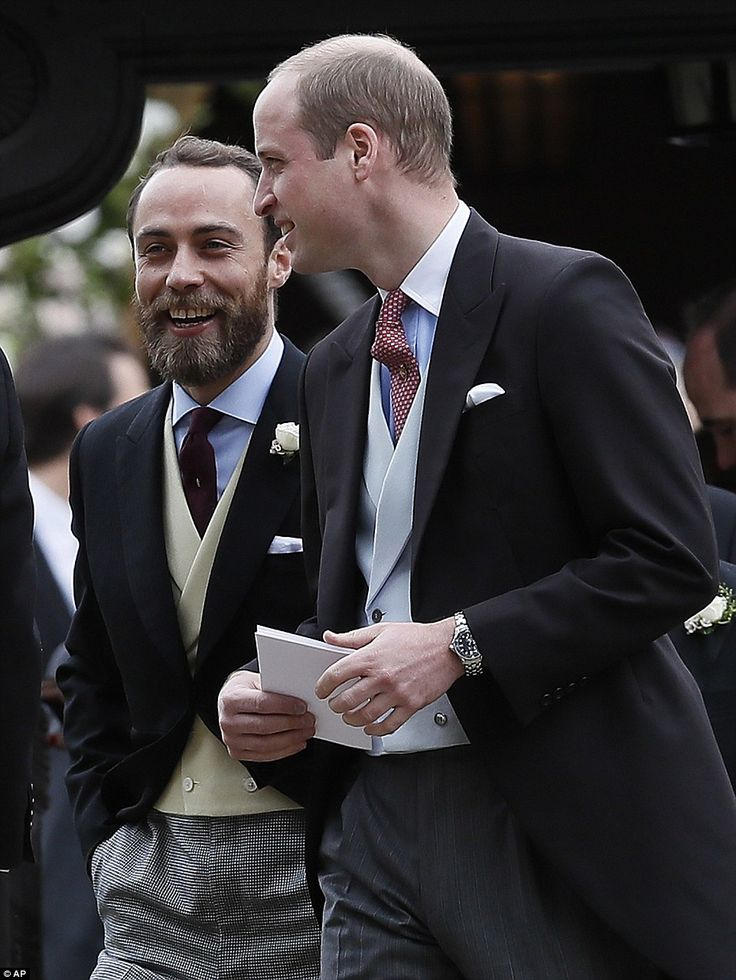 William walked out of the service with Pippa's brother James Middleton after the ceremony in Englefield