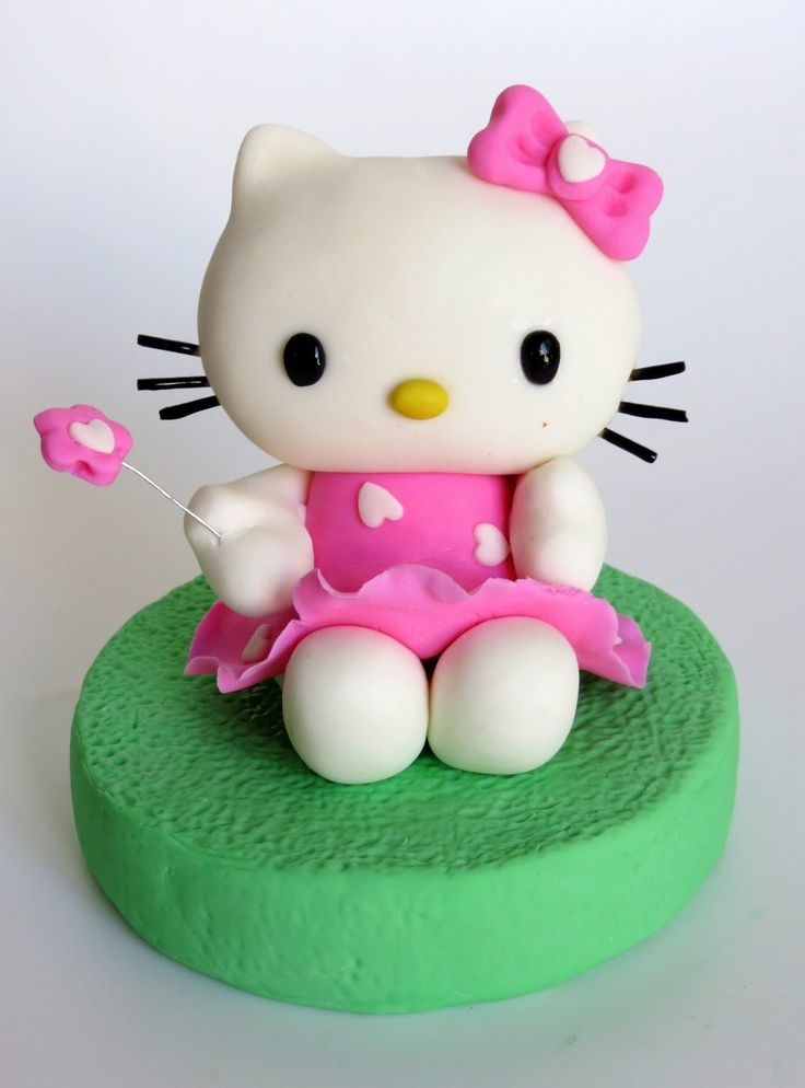 How to do fondant Hello Kitty - fondant Hello Kitty step-by ...