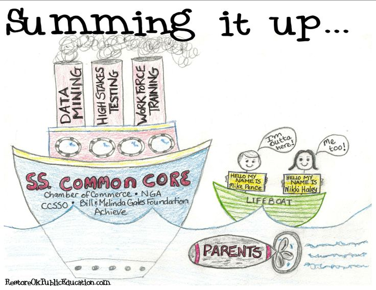 The Common Core is sinking. Pence and Haley have at least tried to make it known that they don't like Common Core.  The only problem is that Haley backpedaled her once strong stance in her State of the State address.  So sad that legislators won't do the right thing for the right reasons.