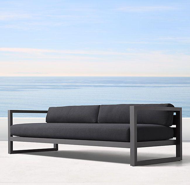 93 Aegean Aluminum Sofa Salas Industriais Ideias Para Mobilia Planos De Moveis