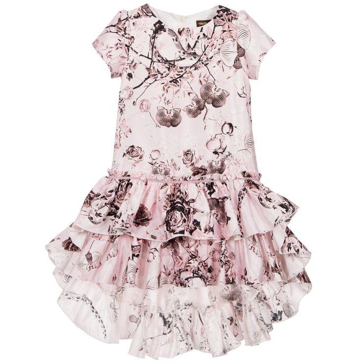 Roberto Cavalli Girls Silk Secret Garden Print Dress at Childrensalon.com