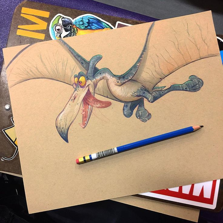 Drawing a goofy pterodactyl when I should be watching my daughters basketball game... #pterodactyl #dinosaur #dino #cartoon #characterdesign #sketch #drawing #doodle #illustration #copic #copicmarkers #copicart #dailysketch #art #ilovedinosaurs