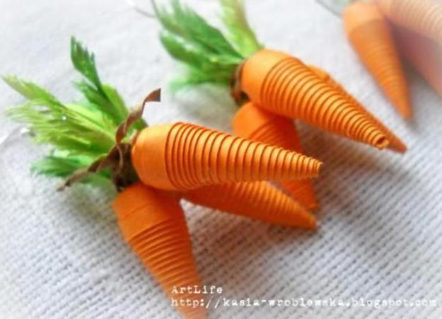 PRESENT - Quilling - 3D carrots earrings (Kate Vrublevskaya, 2013)