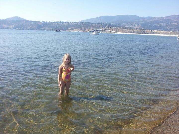 such clear water eh Livvy? Kelowna
