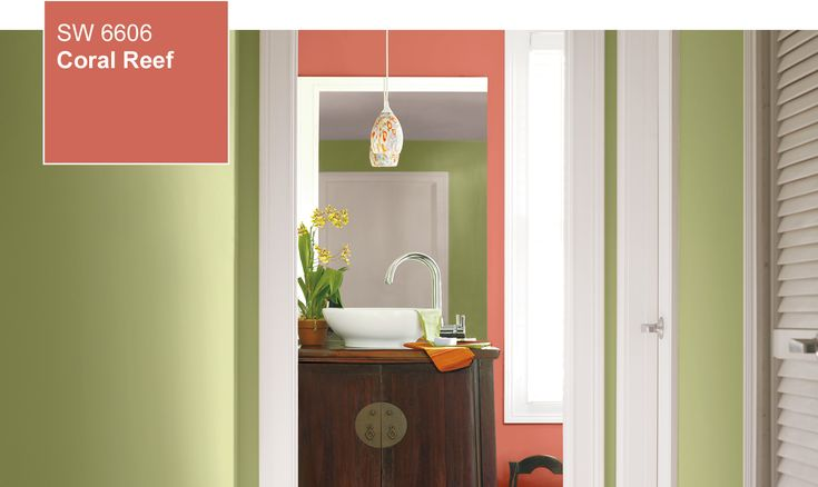 Sherwin williams color of the year 2015 coral reef for Williams interior designs inc