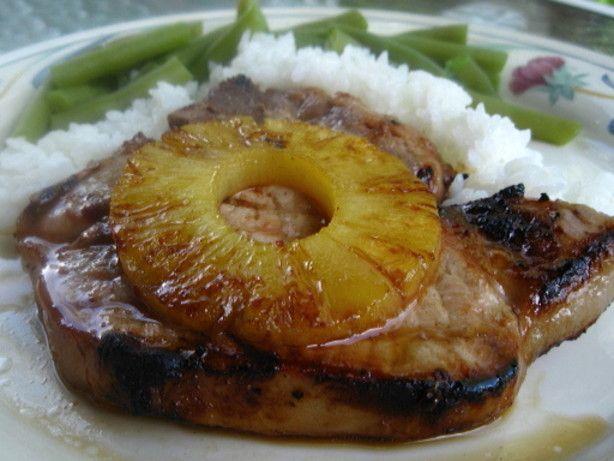 Grilled Pineapple Pork Chops