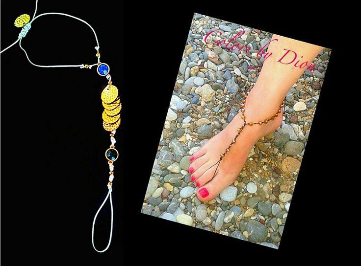 Handmade foot bracelet