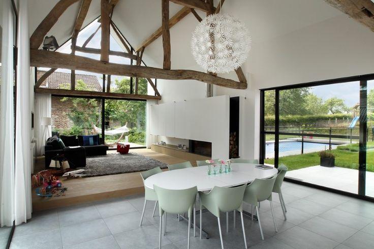 Gerenoveerde vierkantshoeve hnb idee n voor het huis pinterest interiors - Huis mezzanine ...