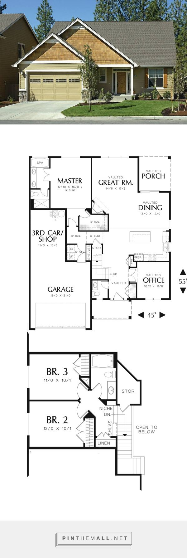 Best 25+ Craftsman style house plans ideas on Pinterest | Bungalow ...