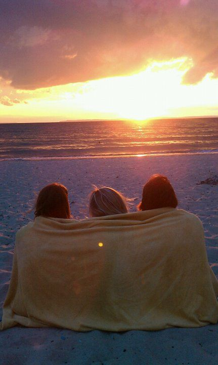 Summer is watching the sunset on the beach with friends. #LoveIsFree